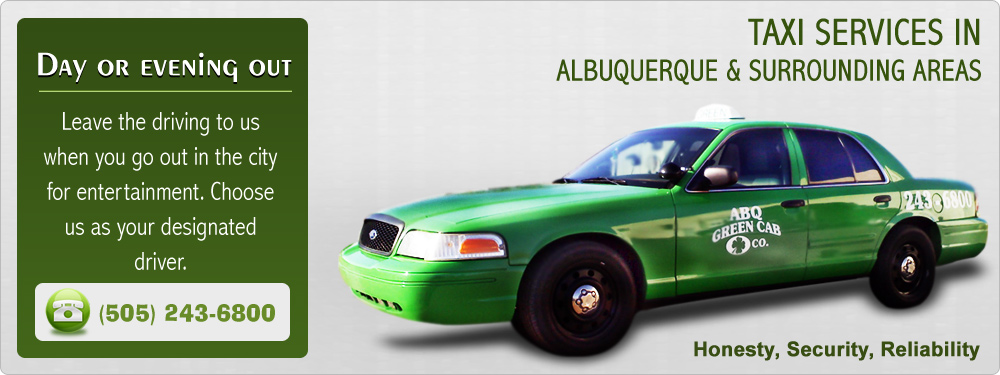 Abq Green Cab Co 3537 4th St Nw Albuquerque Nm 87107 Tel 505 243 6800 Email Info Abqgreencabco